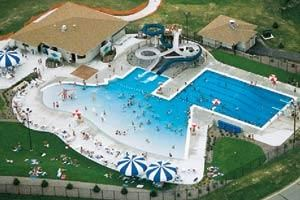 Aquatic Center Arial View