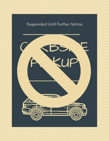 Curbside Pickup sign