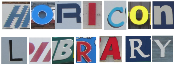 Collage of letters spelling Horicon Library