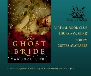 Ghost Bride Book Club ad and cover art