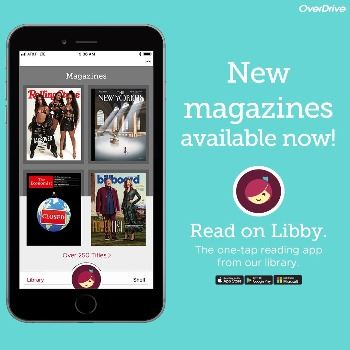 Libby app magazine ad