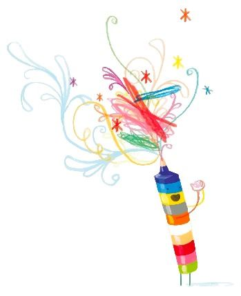 multi color crayon Jeffers iRead spot art